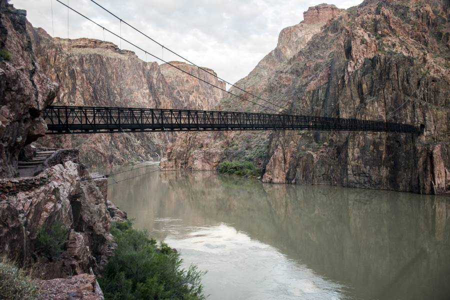 Grand Canyon National Park USA West Coast Black Suspension Bridge