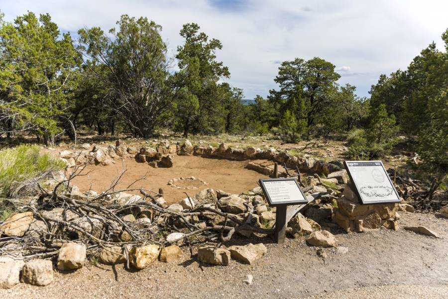 old Tusayan ruins in the Great Canyon national park