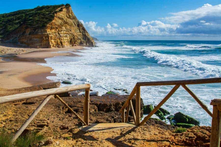Sao Juliao beach in Ericeira.