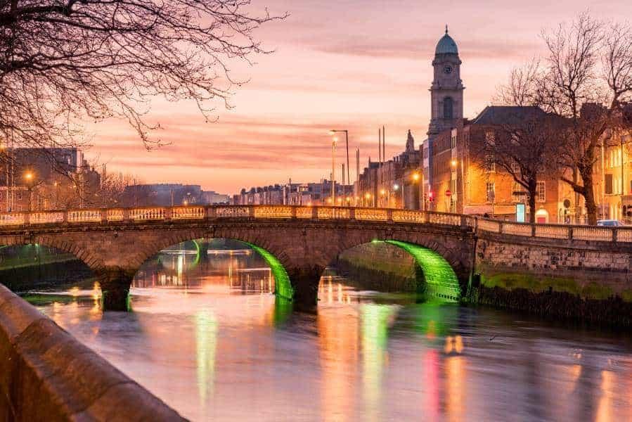 Grattan Bridge in Dublin, Ireland