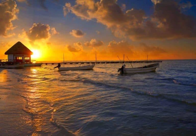 Holbox Island pier Mexico