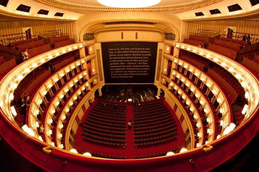 Interior of Vienna opera