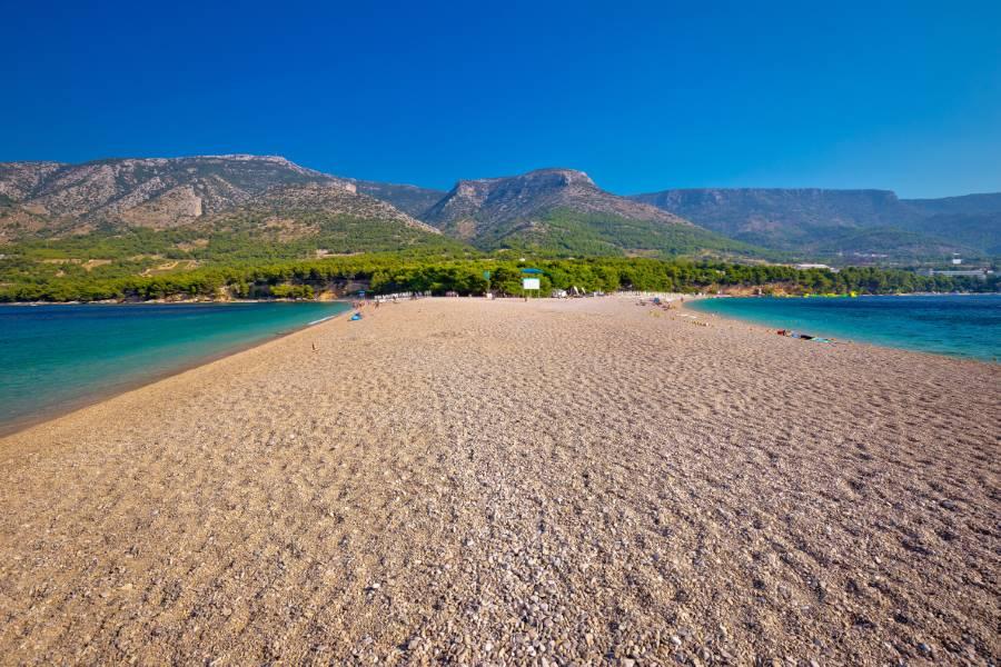 Zlatni Rat beach on Brac island, Dalmatia, Croatia