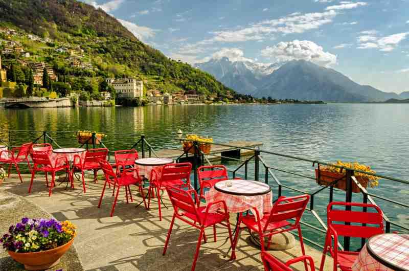Lake Como (northern Italy) scenic view
