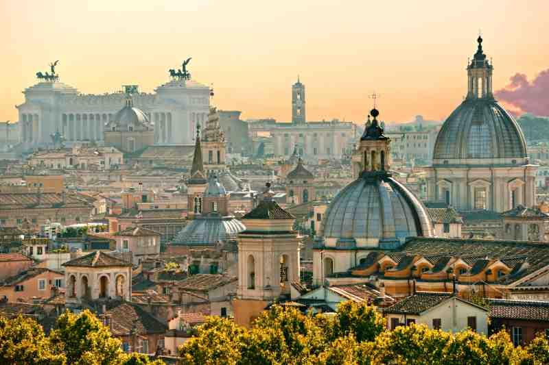 Rome italy city view