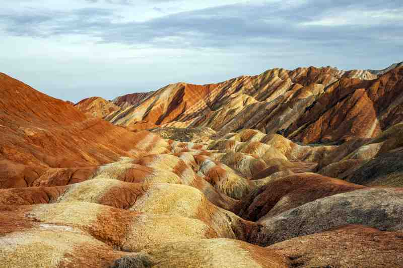 Zhangye Danxia Landform Geological Park in Gansu Province, China.