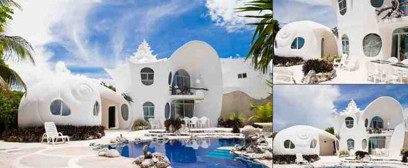 Seashell House in Mexico