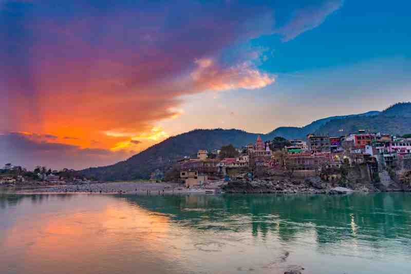 Rishikesh, holy town and travel destination in India.