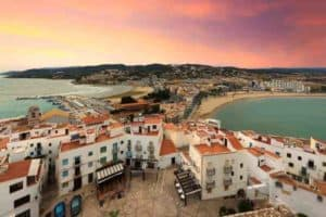 View from Pope Luna's Castle. Valencia, Spain