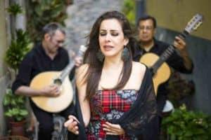 Fado traditional portuguese music on the street of Alfama, Lisbon, Portugal
