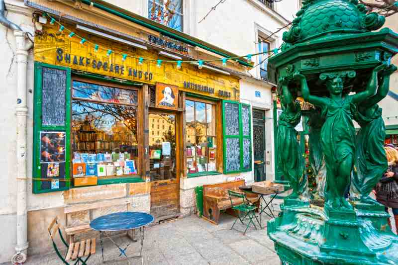 The Shakespeare and Co. bookstore