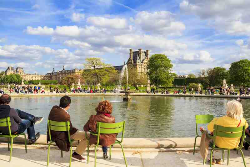 Tuileries Garden in Paris