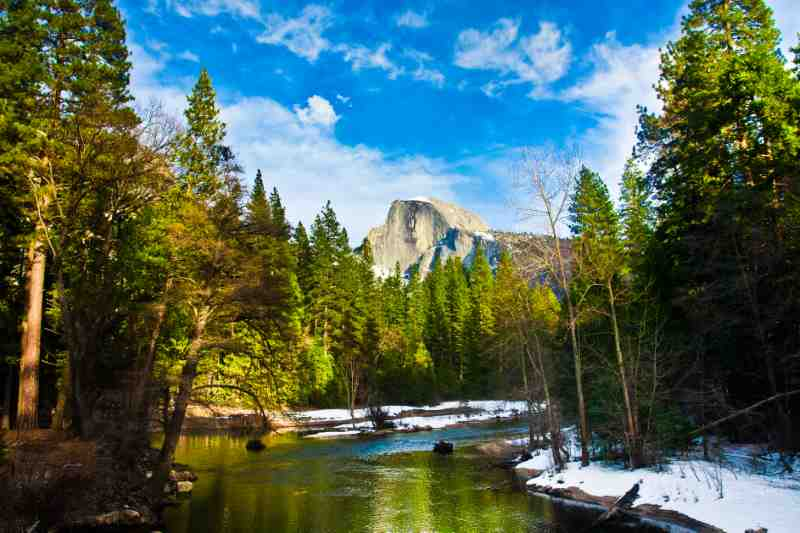 Half Dome Rock , the Landmark of Yosemite