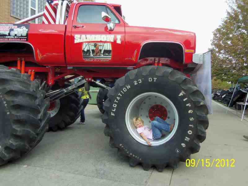 a red monster truck
