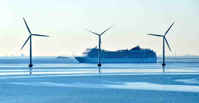 wind turbines in the water