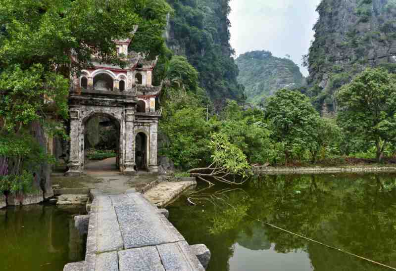 Buddhist temple in Ninh Binh province