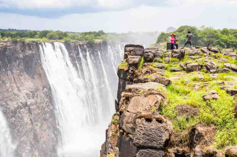 a view of victoria falls - africa