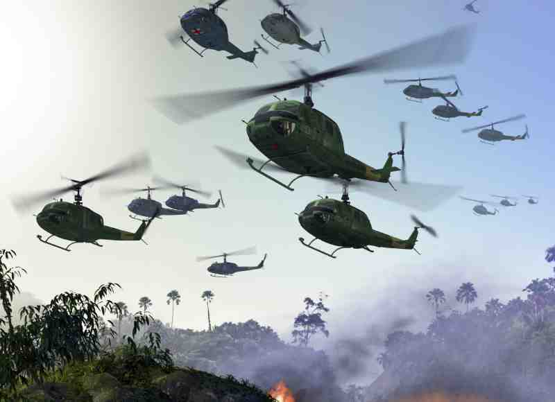 choppers in the vietnam war