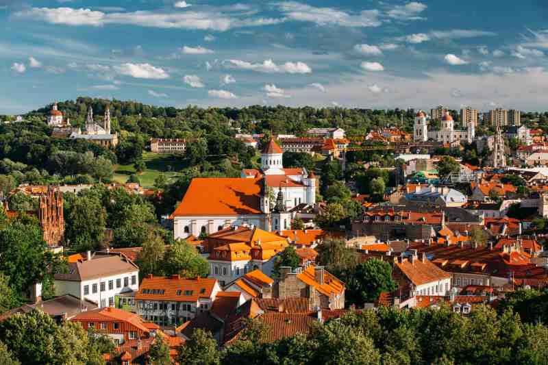 old town vilnius lithuania
