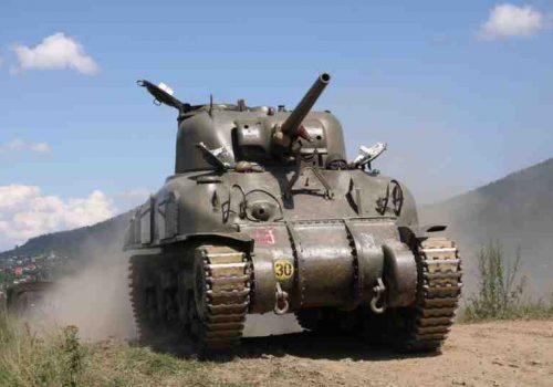 driving a sherman tank